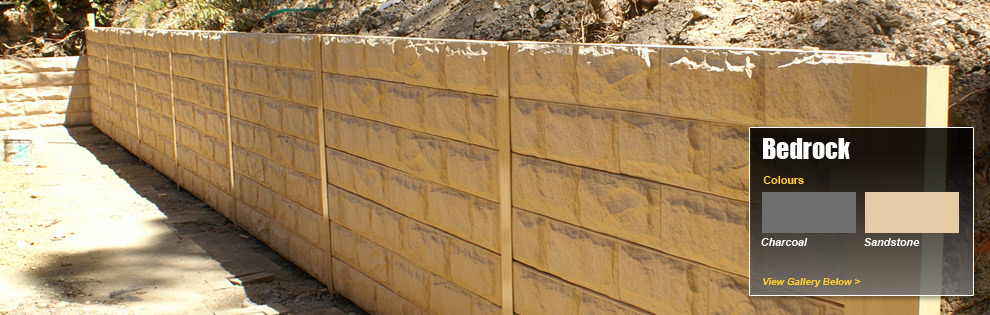 bedrock pattern concrete sleepers for retaining walls
