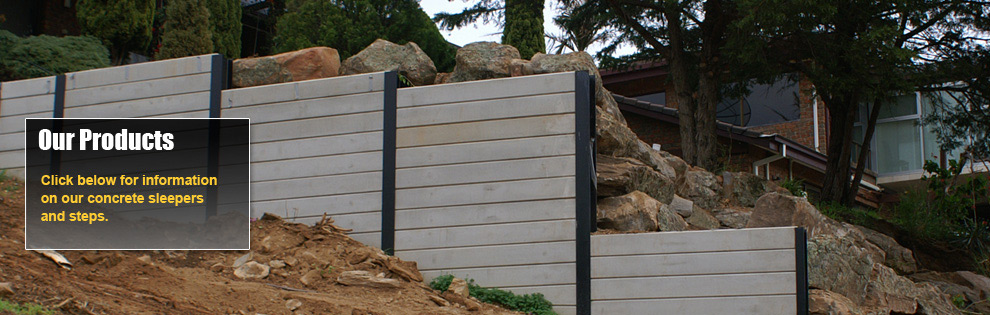 creative sleepers range of concrete sleepers for retaining walls