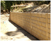 bedrock pattern cement retaining wall